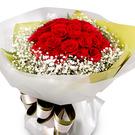 빨강장미 안개꽃다발