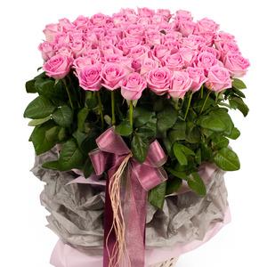 100송이 핑크장미꽃