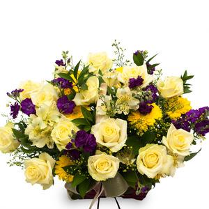 옐로우 꽃바구니